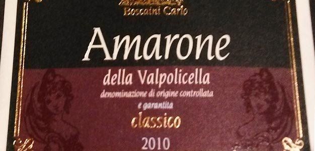 New label for new vintage of Amarone with GARANTITA